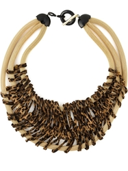 Giorgio Armani Animal Print Triple Strand Necklace