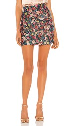 C Meo Collective And Ever More Skirt In Pink Red. Black Garden Floral