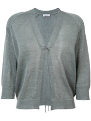 Brunello Cucinelli Relaxed Fit Cardigan Grey