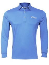 Oscar Jacobson Plain Polo Regular Fit Polo Shirt Sky Blue