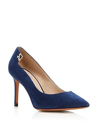 Tory Burch Elizabeth Pointed Toe High Heel Pumps Royal Navy