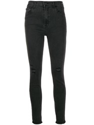 J Brand Distressed Skinny Jeans Black