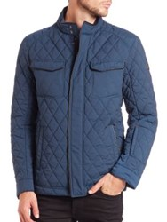 Tumi Stretch Quilted Jacket Navy