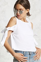 Forever 21 Contemporary Open Shoulder Top White