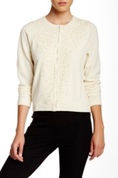 Gant By Michael Bastian Wool Embroidered Cardigan Beige