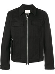 Helmut Lang Zip Up Biker Jacket Cotton Spandex Elastane S Black