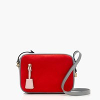 J.Crew Signet Bag In Colorblock Italian Suede And Leather