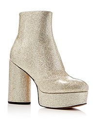 Marc Jacobs Amber Metallic Glitter Platform High Heel Booties Diamond