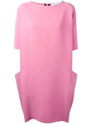Gianluca Capannolo Draped Back Shift Dress Pink Purple