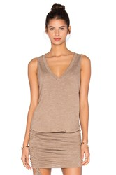 Riller And Fount Pam Cropped Tank Brown