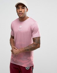 Hype T Shirt In Faded Camo Pink