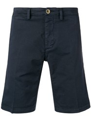 Macchia J Side Stripe Chino Shorts Blue