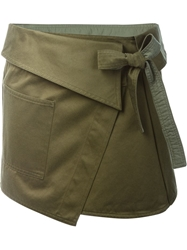 Isabel Marant Wrap Military Skirt Green