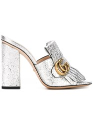 Gucci Marmont Mules Metallic