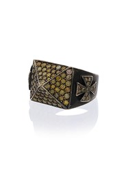 Loree Rodkin 18K Gold And Topaz Pyramid Pave Ring Yellow