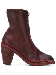 Guidi Front Zipped Boots Women Horse Leather Leather 38 Red