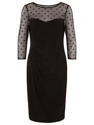Planet Flocked Spot Jersey Dress Black