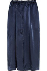 Jil Sander Satin Midi Skirt Navy