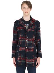 Bob Strollers Plaid Jacquard Wool Blend Coat
