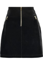 Sandro Jones Velvet Mini Skirt Black