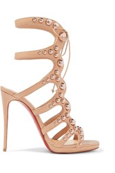 Christian Louboutin Amazoubille 120 Studded Leather Sandals Neutral Gbp