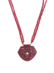 Jade Jagger Diamond Ruby And Yellow Gold Necklace Red