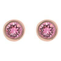 Ted Baker Sinaa Swarovski Crystal Stud Earrings Rose Gold Rose