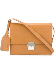 Erika Cavallini Square Satchel Nude And Neutrals