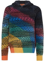 Missoni Patterned Knit Hoodie Sm0g9 Multicoloured