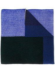 Paul Smith Ps By Knit Mix Scarf Blue