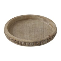 Bloomingville Terrain Round Wooden Tray Natural