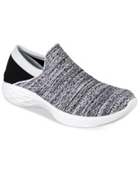 Skechers Women's You Casual Walking Sneakers From Finish Line White Black Oreo