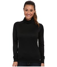 Hot Chillys Peach Roll T Neck Black Long Sleeve Pullover