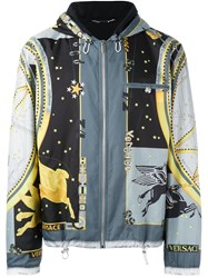 Versace 'Astrological' Print Windbreaker Jacket Black
