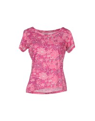South Beach Topwear T Shirts Women Fuchsia