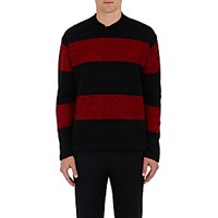 Tomorrowland Men's Wool Blend Striped Sweater Red