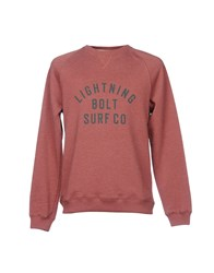 Lightning Bolt Sweatshirts Brick Red