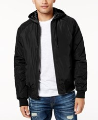 American Rag Men's Quilted Bomber Jacket Created For Macy's Deep Black