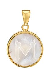 Asha Women's Mother Of Pearl Initial Charm