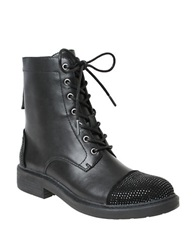 William Rast Wendy Military Lace Up Boots Black