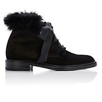 Saint Laurent Women's Army Ankle Boots Black Blue Black Blue