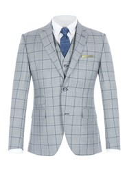 Gibson Men's Grey With Blue Overcheck Jacket Grey