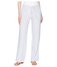 Allen Allen Stripe Long Pants White Casual Pants