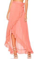 Lovers Friends Waves For Days Wrap Skirt Pink