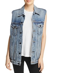 Alexander Wang T By Daze Denim Vest Light Indigo Aged