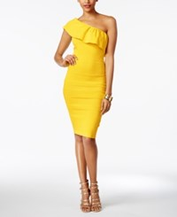 Xoxo Juniors' One Shoulder Textured Bodycon Dress Yellow