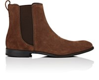 John Varvatos Men's Star Suede Chelsea Boots Dark Brown Tan Dark Brown Tan