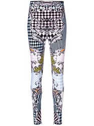 Versace Patterned Baroque Skinny Trousers Multicolour