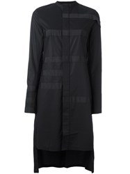Y 3 Panelled Long Length Shirt Black