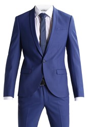 Noose And Monkey Ellroy Suit Mid Blue Royal Blue